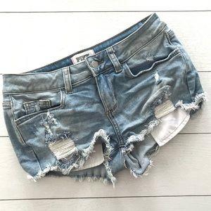 VS PINK || Distressed Denim Cutoff Shorts 2